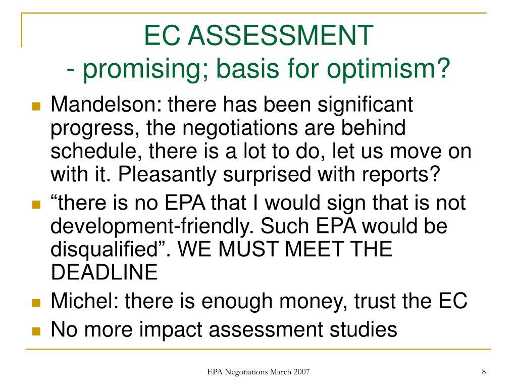 EC ASSESSMENT