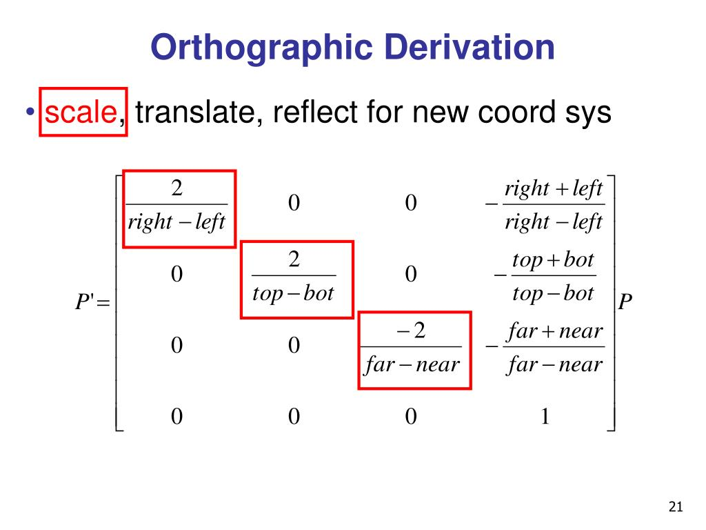 Orthographic Derivation