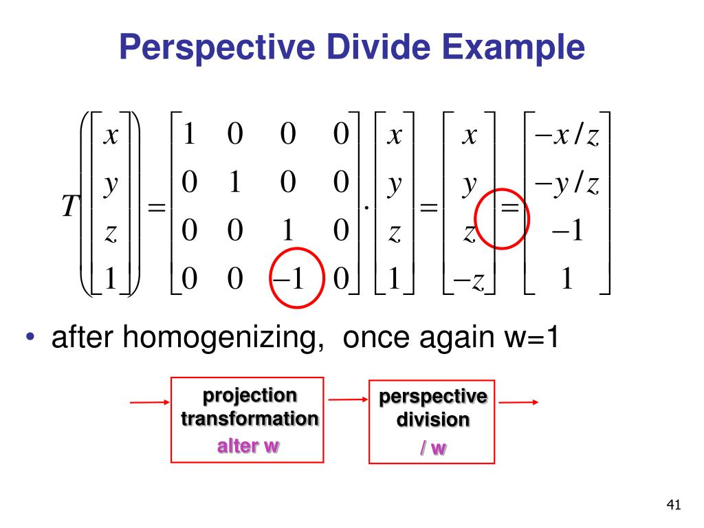 Perspective Divide Example