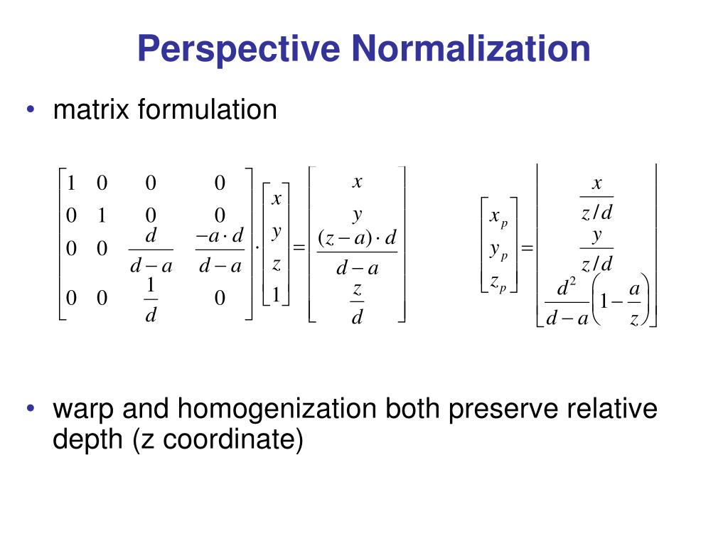 Perspective Normalization