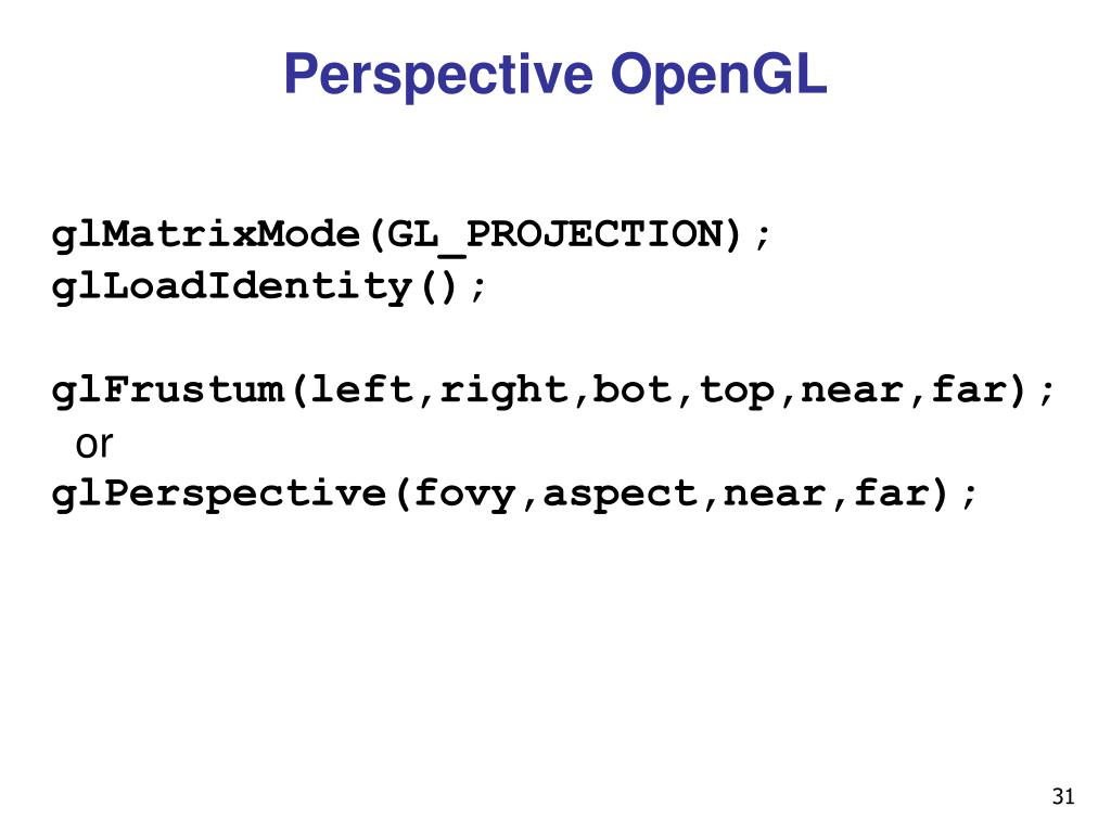 Perspective OpenGL