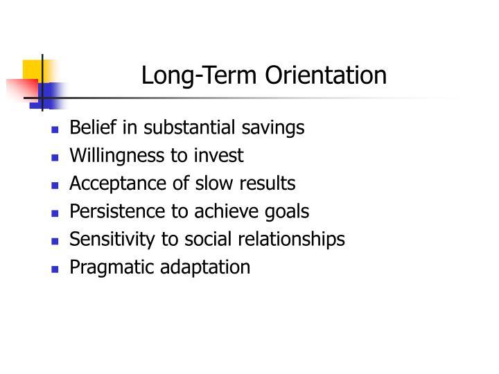 Long-Term Orientation