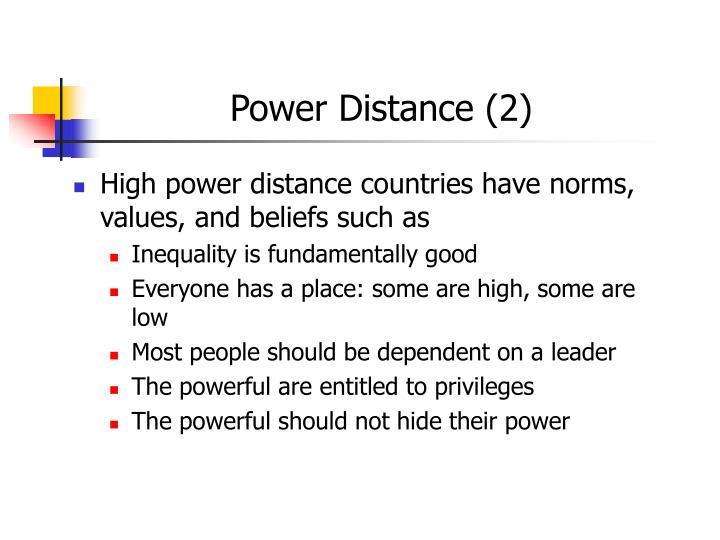 Power Distance (2)