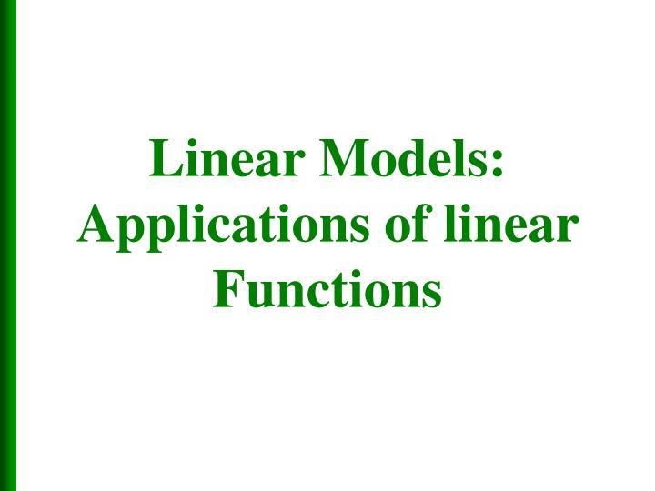 Linear Models: