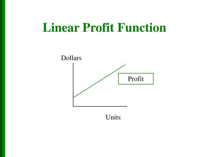 Linear Profit Function