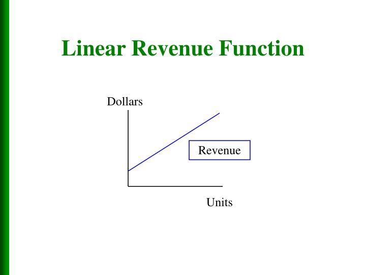 Linear Revenue Function