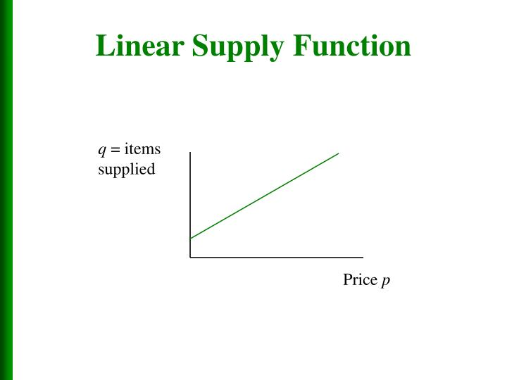 Linear Supply Function
