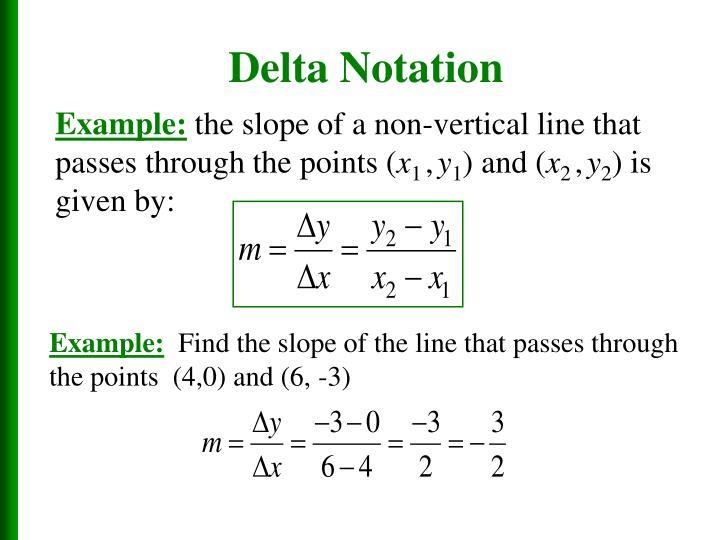Delta Notation
