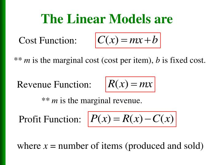 The Linear Models are