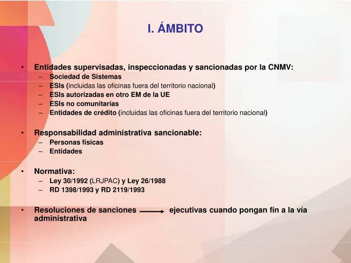 I. ÁMBITO