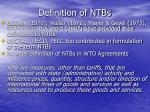definition of ntbs