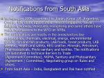 notifications from south asia