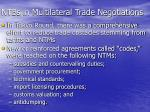 ntbs in multilateral trade negotiations