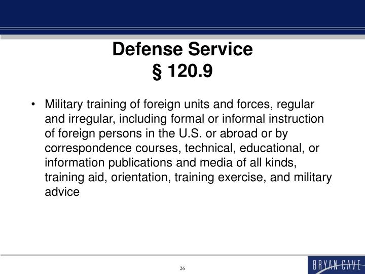 Defense Service