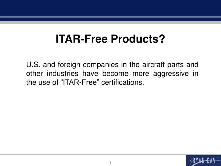 ITAR-Free Products?