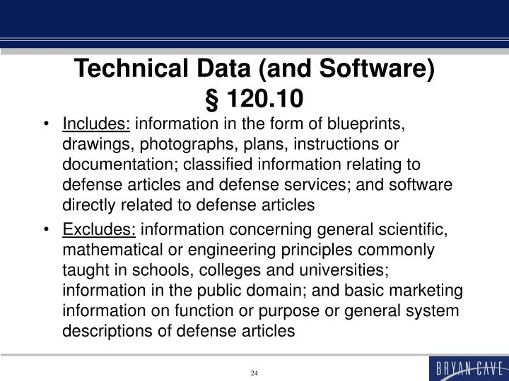 Technical Data (and Software)
