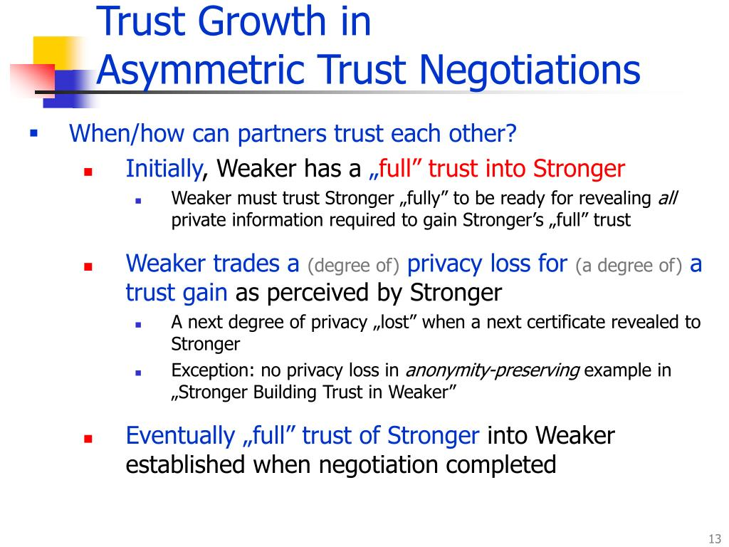 Trust Growth in