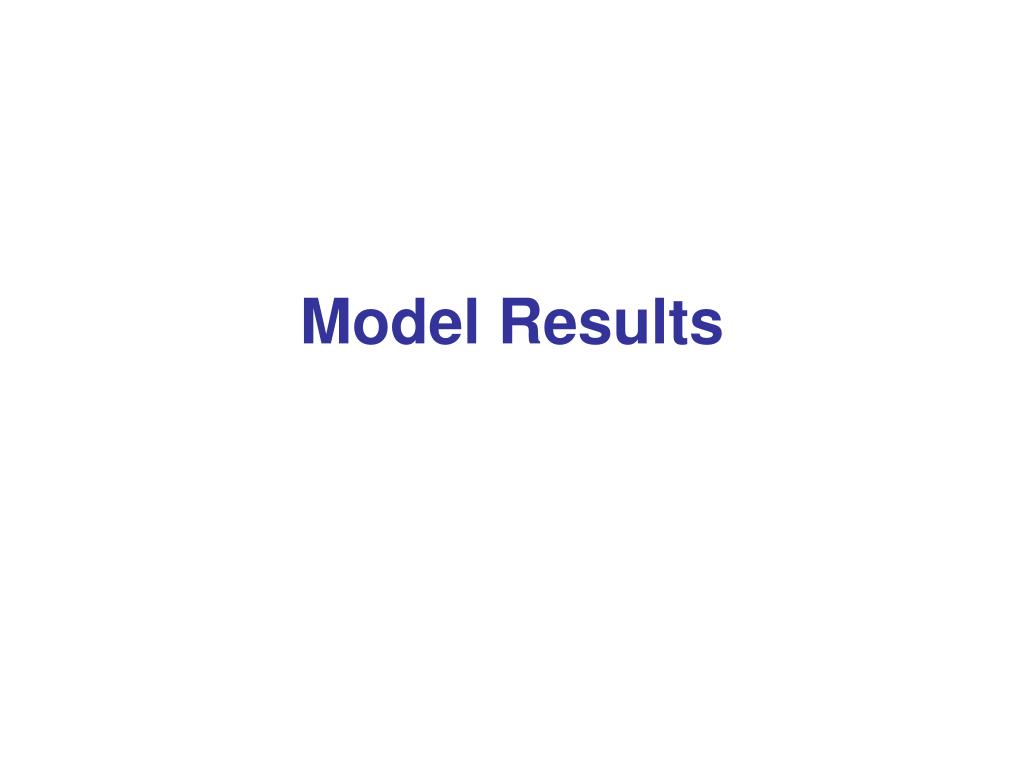 Model Results