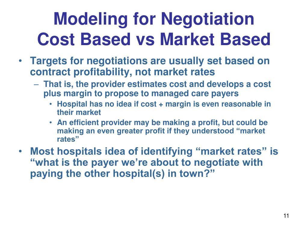 Modeling for Negotiation