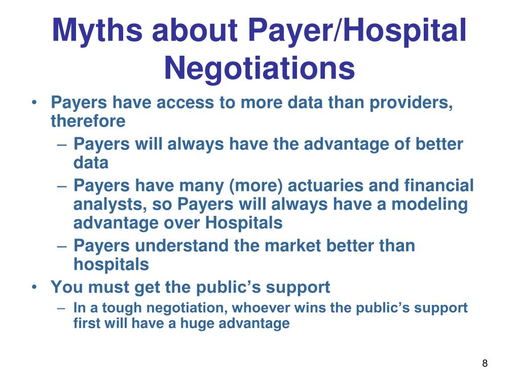 Myths about Payer/Hospital Negotiations