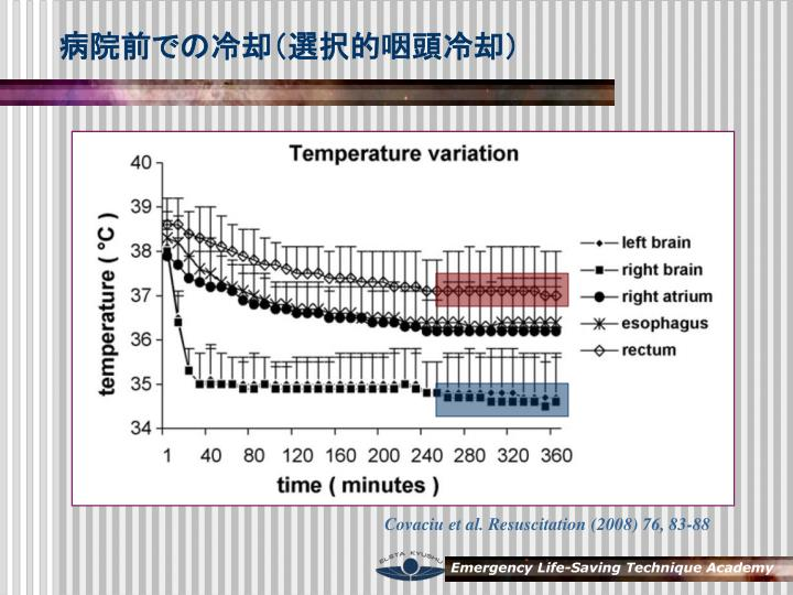 病院前での冷却(選択的咽頭冷却)