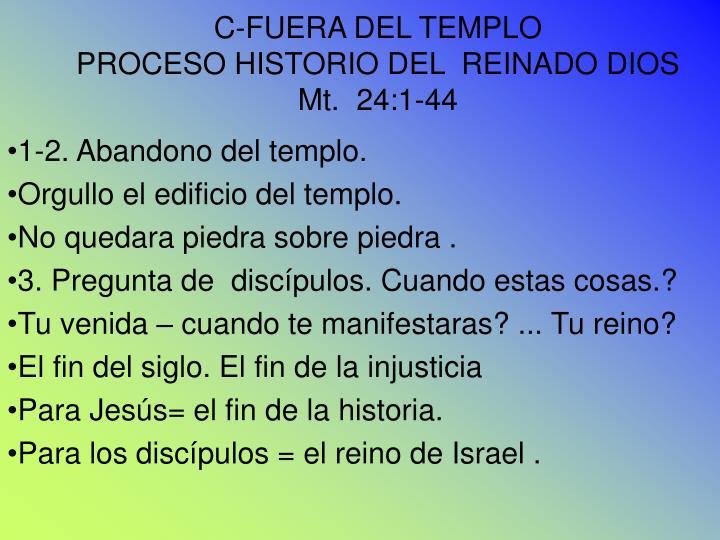 C-FUERA DEL TEMPLO