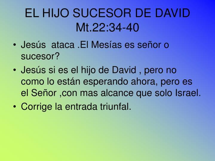 EL HIJO SUCESOR DE DAVID