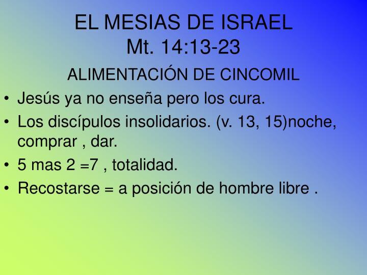 EL MESIAS DE ISRAEL