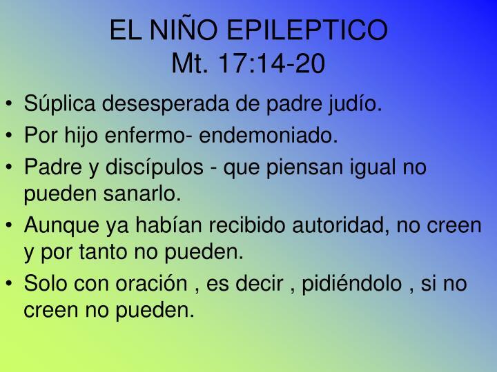 EL NIÑO EPILEPTICO