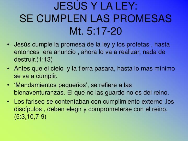 JESÚS Y LA LEY: