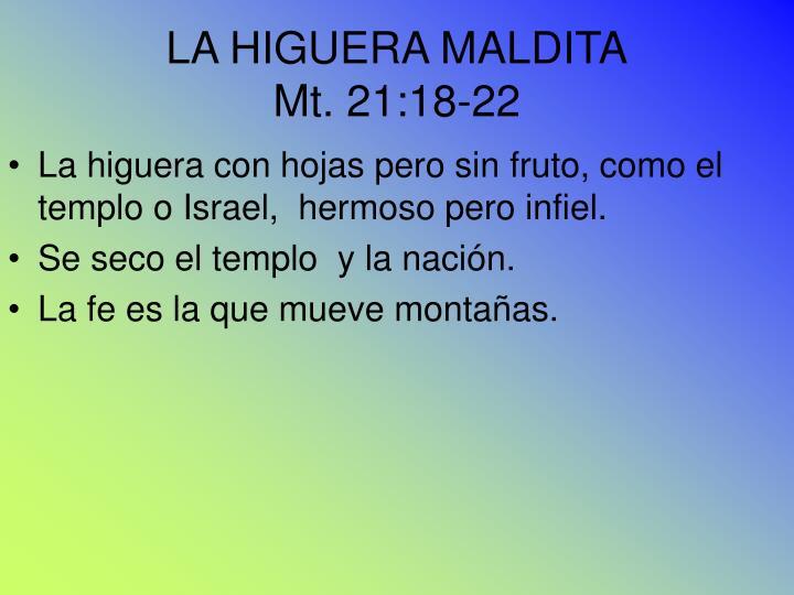 LA HIGUERA MALDITA