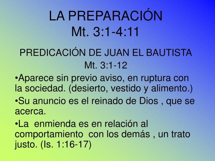LA PREPARACIÓN