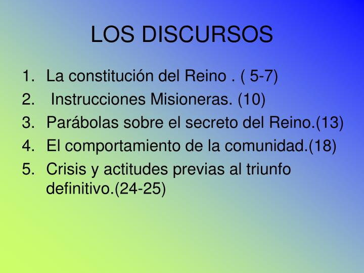 LOS DISCURSOS