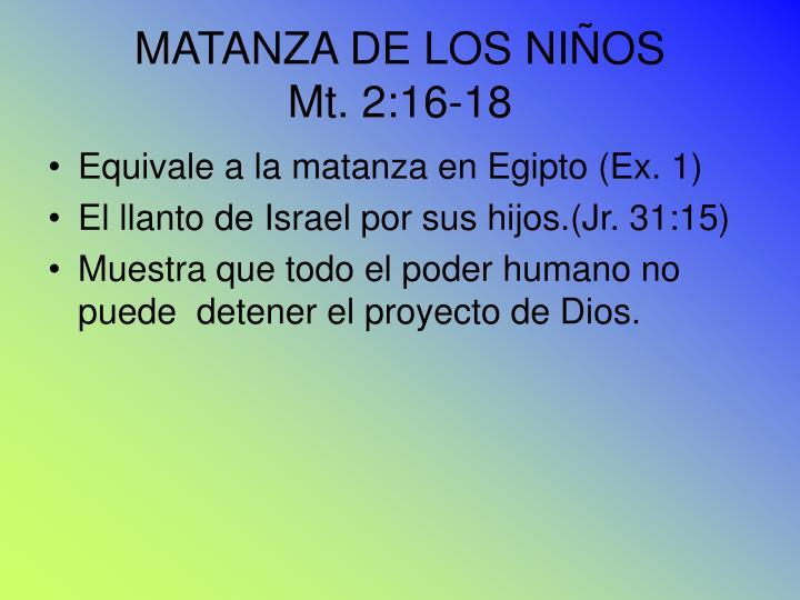 MATANZA DE LOS NIÑOS