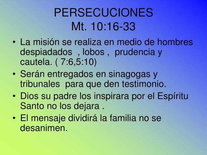 PERSECUCIONES