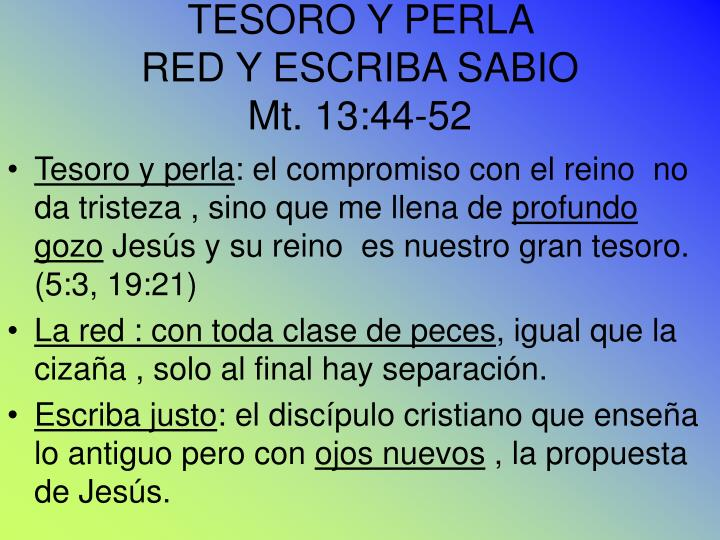TESORO Y PERLA