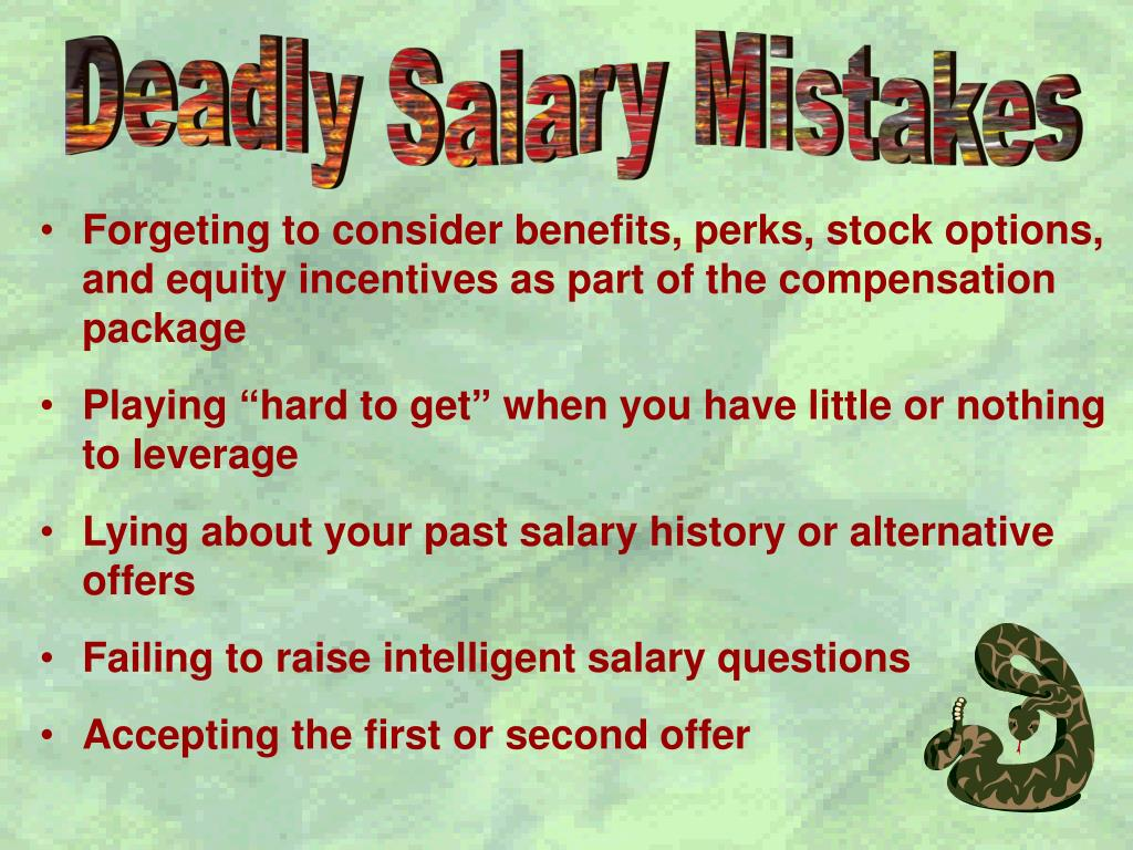 Deadly Salary Mistakes