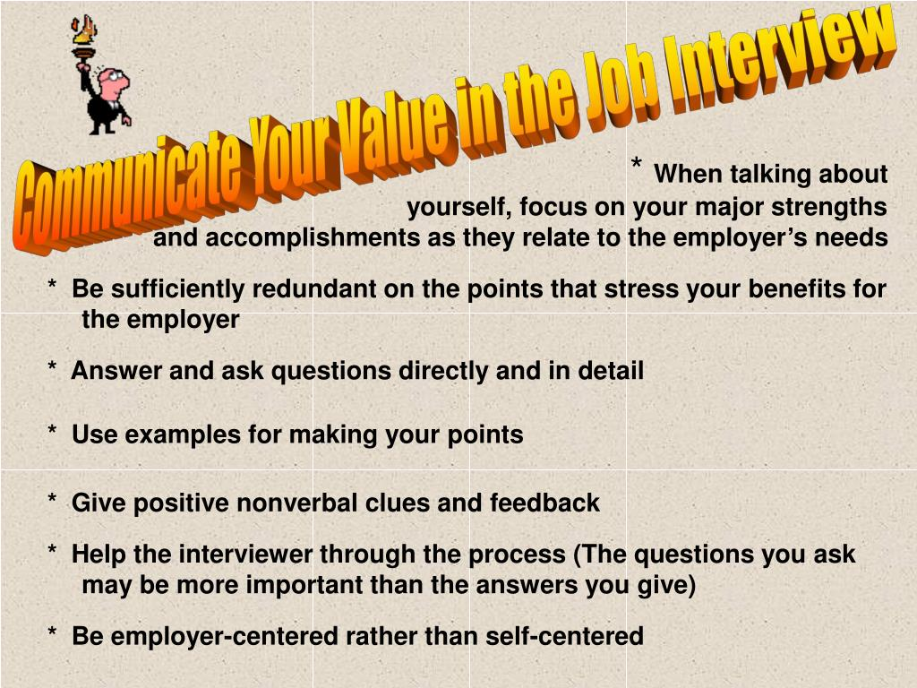 Communicate Your Value in the Job Interview