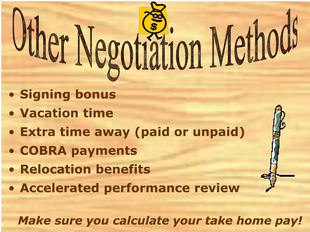 Other Negotiation Methods