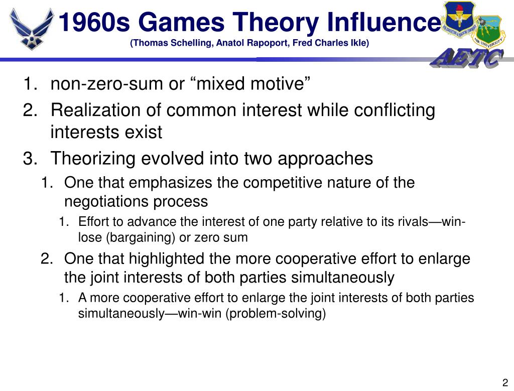 1960s Games Theory Influence