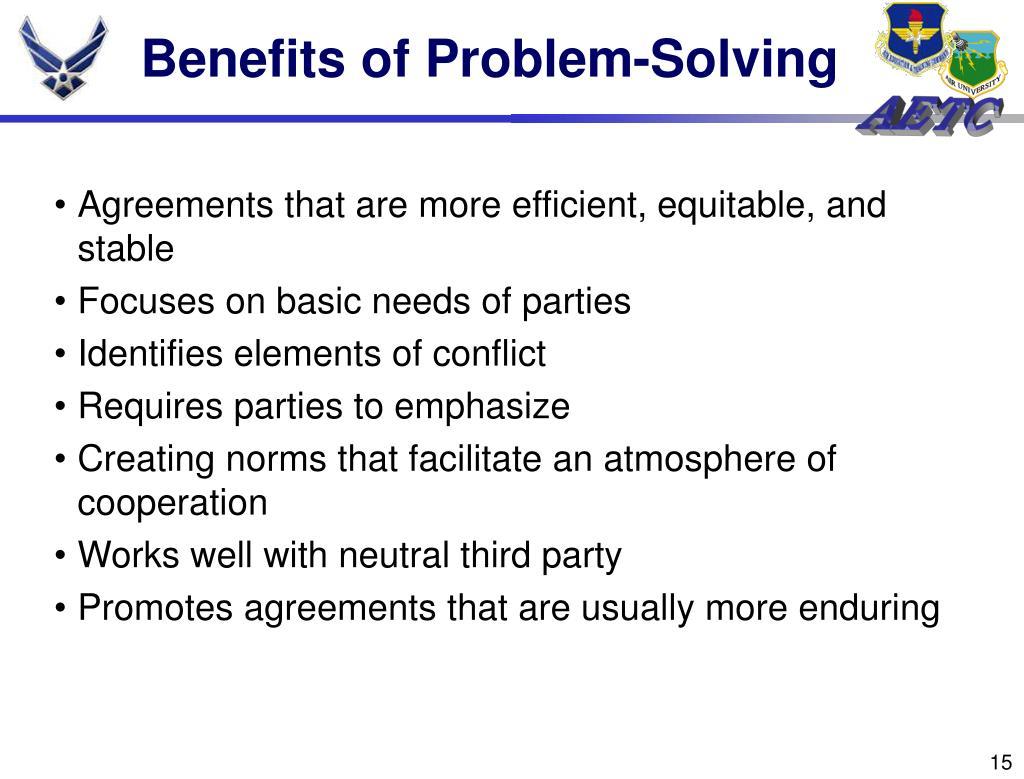 Benefits of Problem-Solving