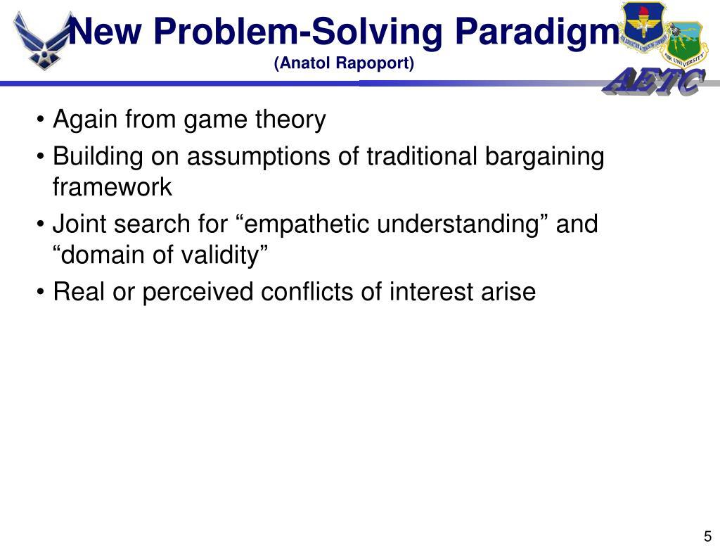 New Problem-Solving Paradigm
