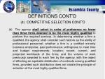 definitions cont d 4 competitive selection cont d