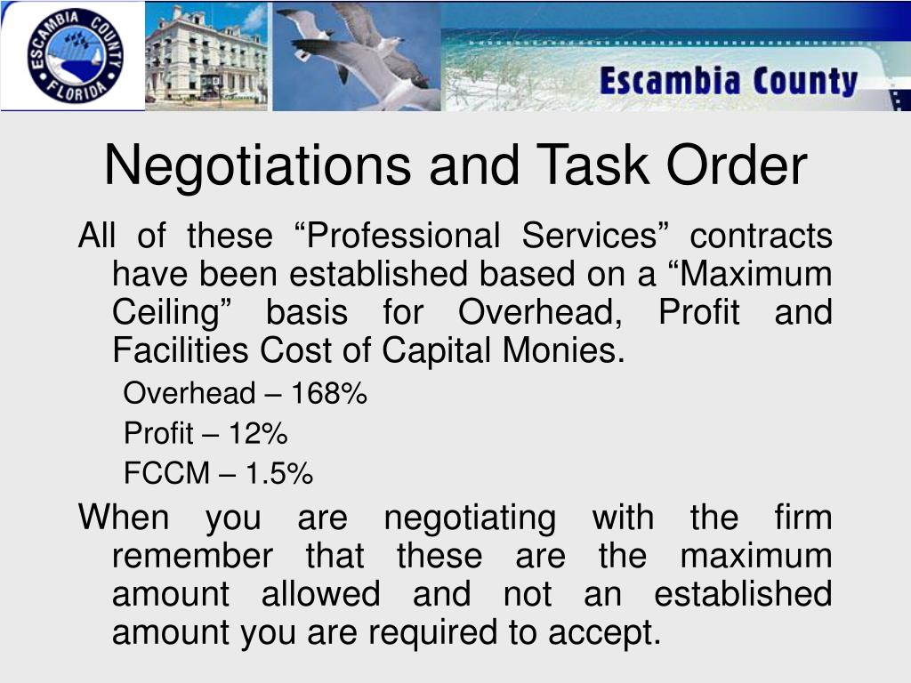 Negotiations and Task Order