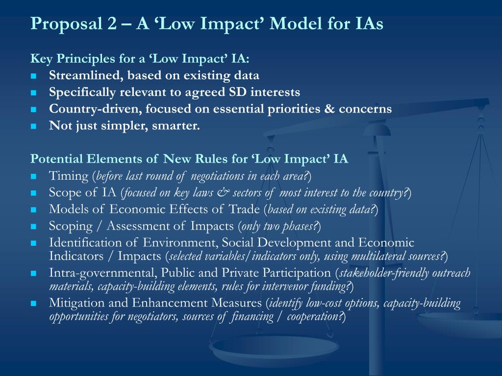 Proposal 2 – A 'Low Impact' Model