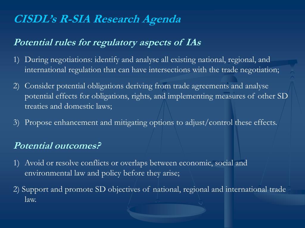 CISDL's R-SIA Research Agenda