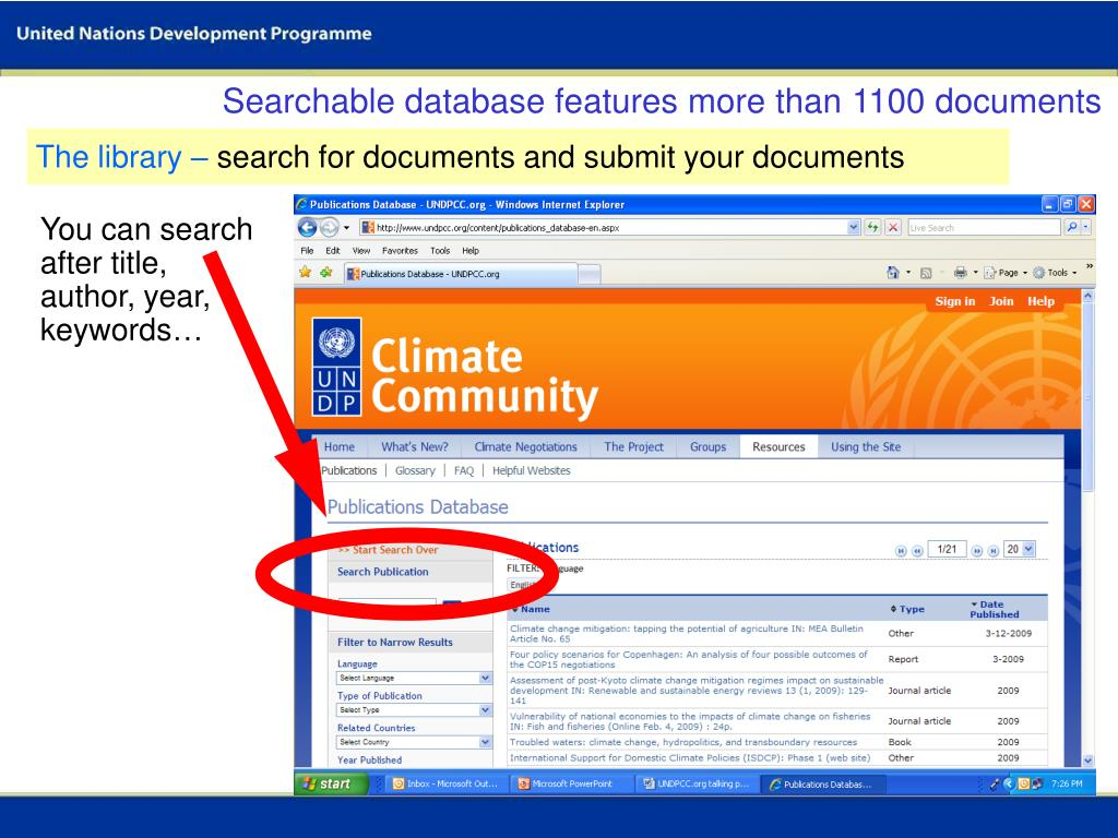 Searchable database features more than 1100 documents