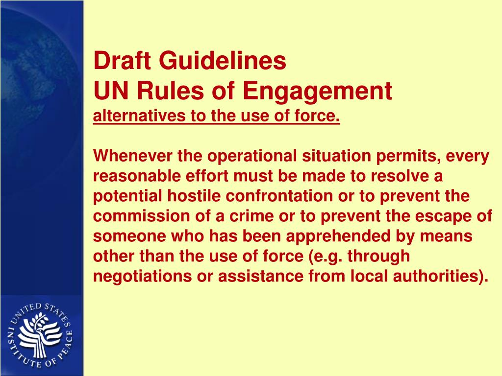 Draft Guidelines
