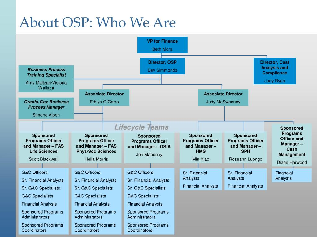 About OSP: Who We Are