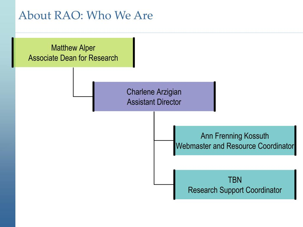 About RAO: Who We Are